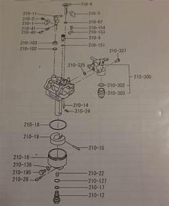 Subaru Kx21 Carburetor 5 Piece Gasket And Seal Kit
