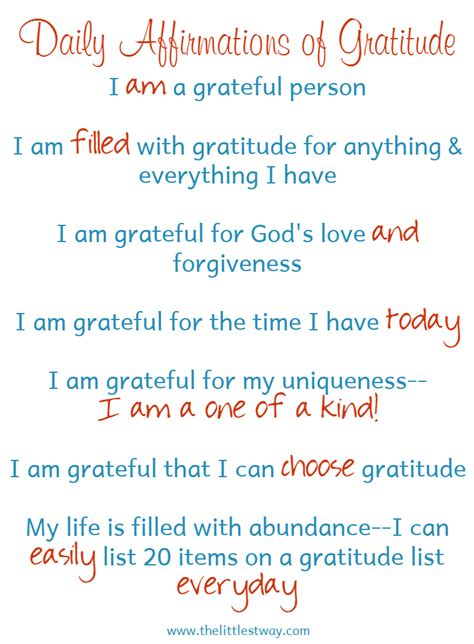 change  life  daily gratitude affirmations