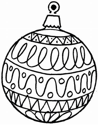 Christmas Coloring Ornaments Printable Pages Ornament Sheet