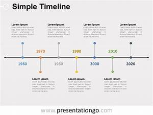 Simple Timeline Powerpoint Diagram