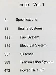 Ford Tw5 Tw15 Tw25 Tw35 Tractor Service Manual Parts