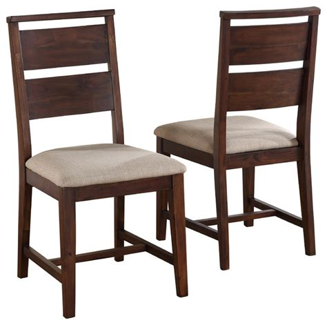 portland solid wood dining chairs set of 2 transitional
