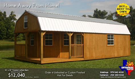 derksen deluxe lofted barn cabin floor plans derksen buildings portable storage buildings