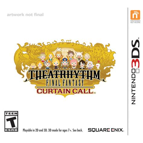 theatrhythm curtain call differences square enix theatrhythm curtain call 91415 b h