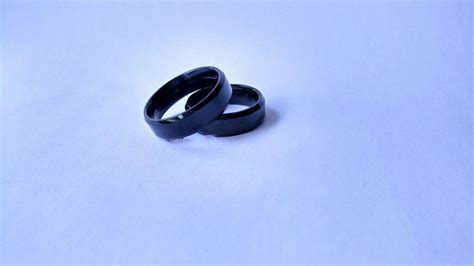 cincin titanium stainless single black