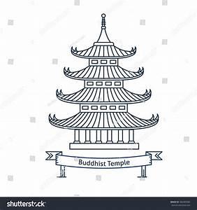 Buddhist Temple Monastery Buddhism Symbol Pagoda Stock ...
