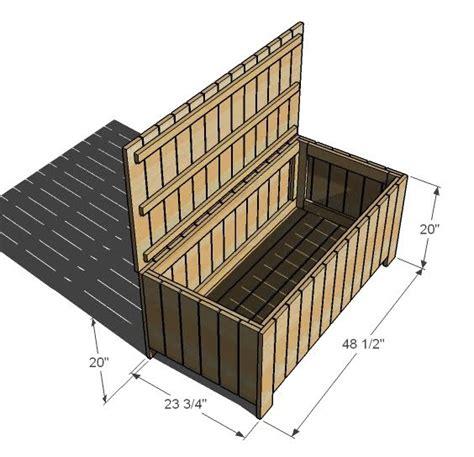 blog woods   wood  deck storage bench plans