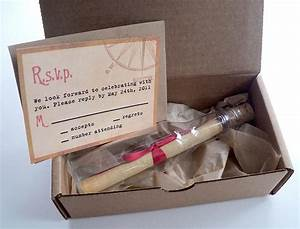 message in a bottle wedding invitations with mailer box With wedding invitation box mailers