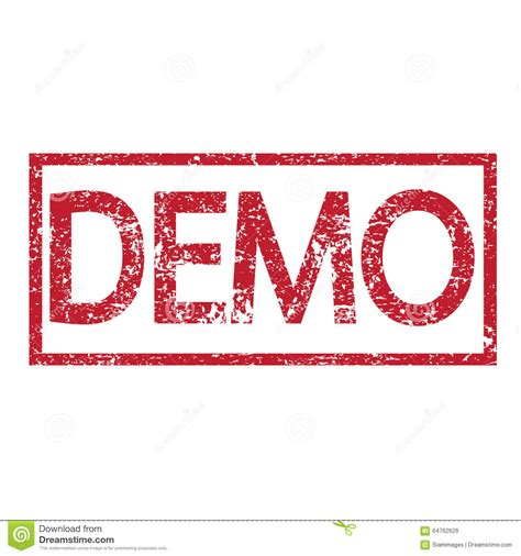 Stamp Text Demo Stock Vector Image Of Freeware, Stamp