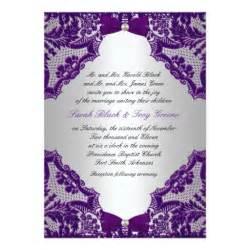 Purple and Silver Wedding Invitation | Zazzle