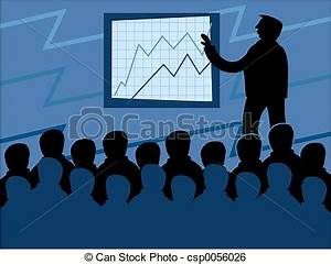 Stock Illustration of Business Meeting business men in a