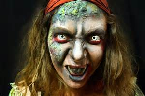 Zombie Pirate Face Paint