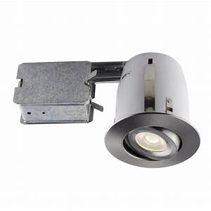 Lithonia lighting in matte white recessed gimbal lamped