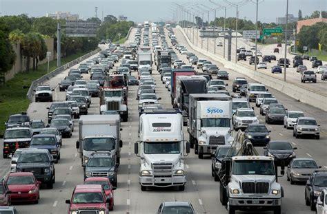 irma hurricane storm fleeing highways bring millions could halt traffic beach krmg hour caption palmbeachpost palm
