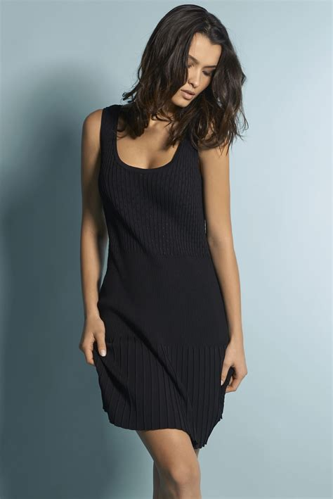 Dress Atasan Tank Top knit tank top dress anti flirt