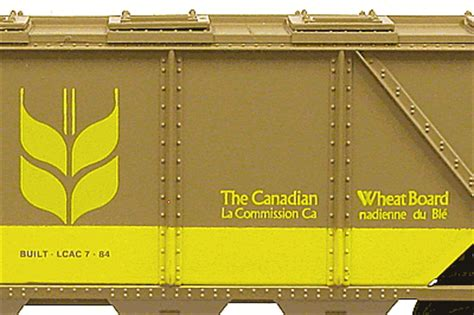 canadian wheat board lionel covered hopper lcac comcar