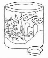 Coloring Fish Pages Aquarium Printable Advertisement sketch template