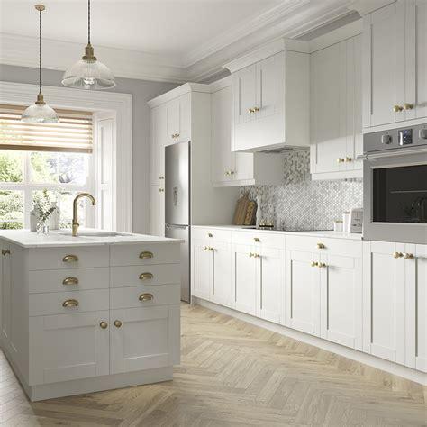 shaker cabinet accessories  vanilla white kitchen