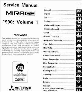1990 Mitsubishi Mirage Repair Shop Manual Set Original