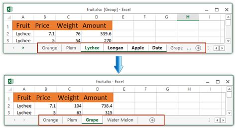 how to display or hide sheet tabs and sheet tab bar in excel
