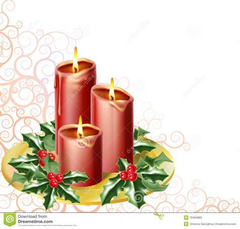 Foto Candele Natalizie by Candele Di Natale Illustrazione Vettoriale Illustrazione