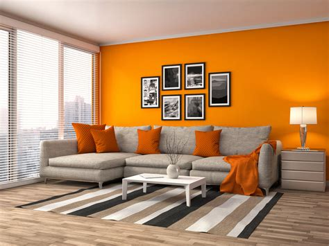 40 orange living room ideas