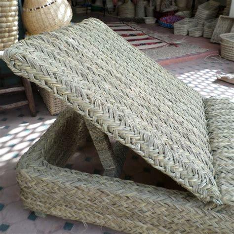 relax en rotin  bois chaise transat artisanat marocain