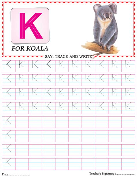 capital letter writing practice worksheet alphabet