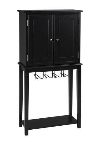 solid wood black cabinet solid wood bar cabinet black walmart ca