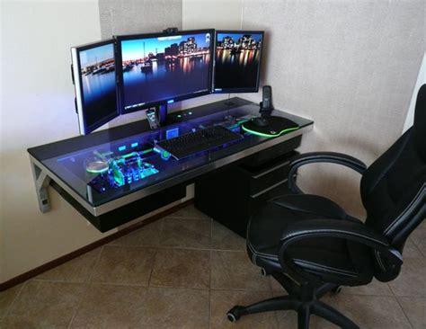 gaming station computer desk 10 mind blowing gaming battlestations salvacious