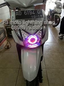 F3motolightingshop  Projie Angel Eyes Hid Untuk Honda Beat Fi
