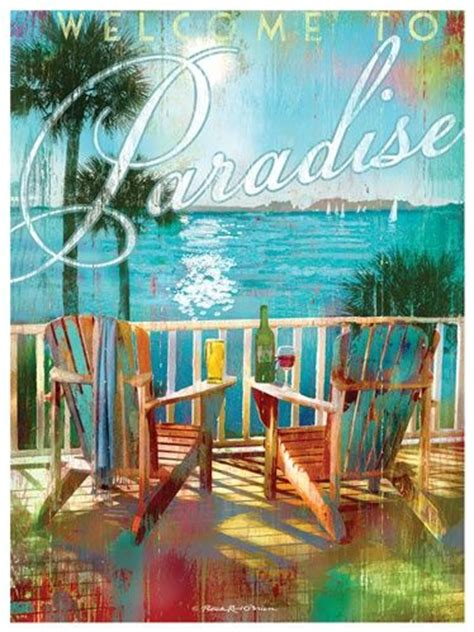 Boat Drinks Served At Sundown by Welcome To Paradise Poster And It Is For Sure When