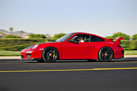 red porsche truck file red porsche 911 gt3 leaving cars and coffee in irvine jpg