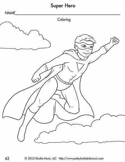 Coloring Superhero Pages Preschool Boy Sheets Super