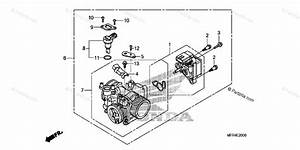 Honda Motorcycle 2010 Oem Parts Diagram For Throttle Body