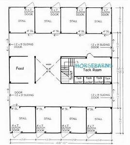 8 stall horse barn plan horse barns trailers With 8 stall horse barn plans