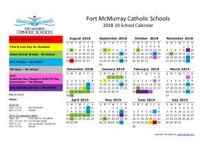 school calendar st kateri school