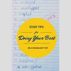 Vocabulary Words Study Tips And Tricks Acing Your Vocabulary Test  The Educators' Spin On It