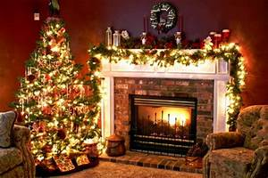 Christmas Tree and Fireplace wallpaper Free Wallpapers