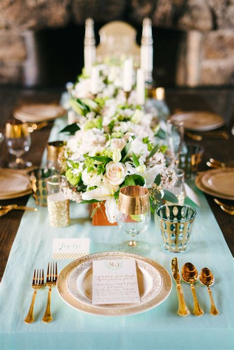 17 Best Images About Tiffany Blue And Antique Gold Wedding