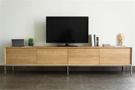 canapé taupe meuble tv en chêne massif 2 tiroirs 2 portes rabattables
