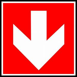 White Arrow With Red Background - Down Clip Art at Clker ...