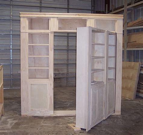 Hideaway Closet Doors by Construction Of A Door Shelf System To Hide A