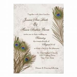 Peacock Feathers Wedding Invitation   Zazzle.com   Peacock ...