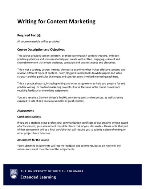 marketing writing samples  templates