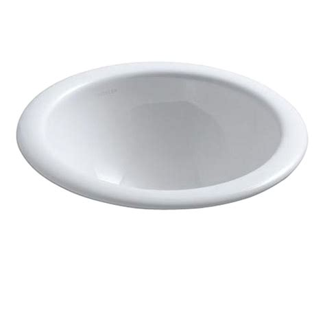 kohler compass drop in vitreous china bathroom sink in