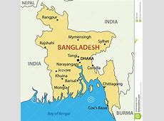 Peoples Republic Of Bangladesh Vector Map Royalty Free