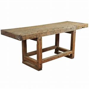 Industrial Workbench Kitchen Island Table at 1stdibs