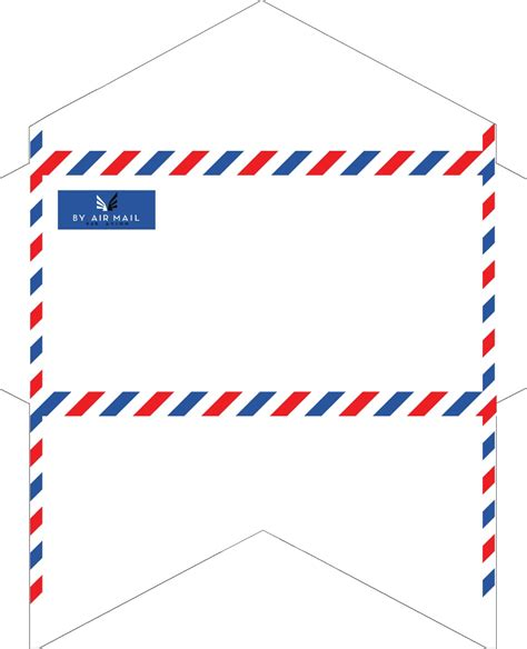 fashioned correspondence airmail envelopes