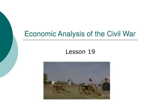 ppt economics of the civil war powerpoint presentation